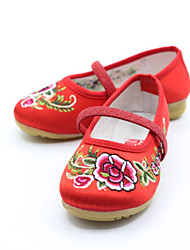 Girl's Boat Shoes Spring Summer Fall Mary Jane Fabric Casual Flat Heel Pink Red Peach