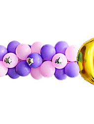 Balloons Holiday Supplies Cylindrical Rubber Purple For Boys 2 to 4 Years / 5 to 7 Years / 8 to 13 Years