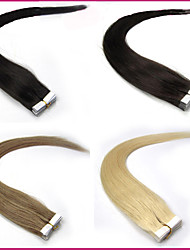 20pieces/set 16inch-24inch Virgin Tape Human Hair Extension Tape In Human Hair Extensions