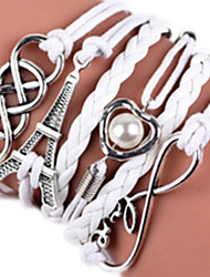 Women's Bangles Pearl Alloy Rock Heart Tree of Life Jewelry 1pc