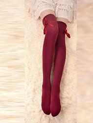 Meias e Meias-Calças Lolita Clássica e Tradicional Cadarço Acessórios Lolita Meias Finas Laço Para Algodão