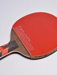 Tabela raquetes de tênis Ping Pang Madeira Cabo Curto Espinhas Interior-#