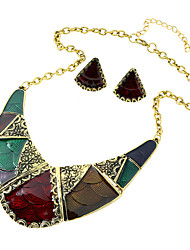 Jewelry 1 Necklace 1 Pair of Earrings Wedding Party Daily Casual 1set Women Red Dark Navy Wedding Gifts