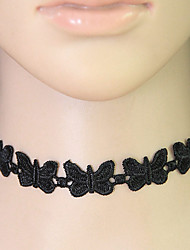 Women's Choker Necklaces Collar Necklace Lace Animal Shape Fashion Black Jewelry Casual 1pc