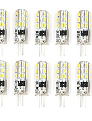 10 Pcs Verkabelt Others G4 24 led Sme3014 1.5W AC220-240 v 350 lm Warm White Cold White Double Pin Waterproof Lamp Other