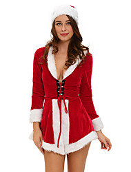 Two Piece Chic Velvet Santa Costume