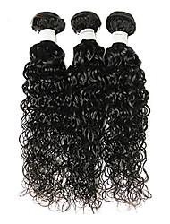 3 pacotes de qualidade superior profunda do cabelo malaio não transformados cabelo virgem encaracolado malaio humano tece rainha weave