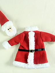 Kerstversieringen Alles voor de feestdagen 3Pcs Kerstmis Textiel Zilver