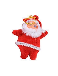 Christmas Decorations / Christmas Tree Ornaments Holiday Supplies Santa Suits Textile Red / White All