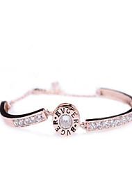 Bracelet Chaînes & Bracelets Zircon Mode Quotidien Bijoux Cadeau Doré Or Rose,1pc