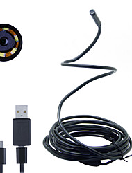 Joyshine 2m 7mm 6LEDAndroid Endoscope Waterproof Inspection Camera Micro USB Video Camera