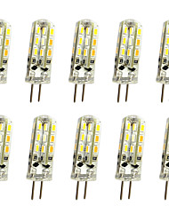 10 pcs 1w g4 led bi-pin lights 24 smd 3014 100lm dimmable blanc chaud / cool blanc dc12v