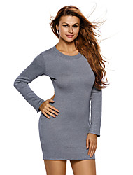 Women's Ribbed Knit Cut out Back Bodycon Dress