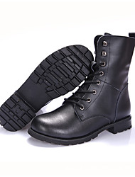 Men's Boots Winter Others Leather Outdoor Low Heel Others Black Others