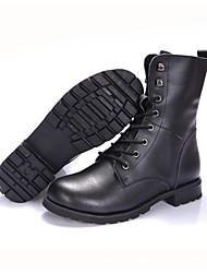 Черный-Мужской-Для прогулок-Кожа-На низком каблуке-Others-Ботинки