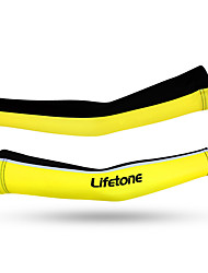 Arm Warmers Bike Thermal / Warm Protective Ultra Light Fabric Comfortable Unisex Yellow Terylene