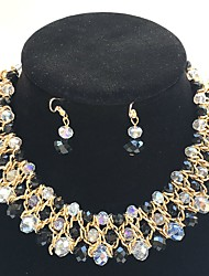 Jewelry 1 Necklace / 1 Pair of Earrings Wedding / Party 1set Women Yellow Gold Wedding Gifts