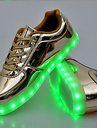 Золотой Серебряный-Унисекс-Для прогулок Повседневный Для занятий спортом-ПолиуретанУдобная обувь Оригинальная обувь Light Up обувь-
