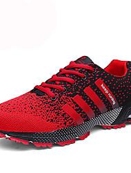 Черный / синий Черно-белый-Мужской-Повседневный Для занятий спортом-Полиуретан-На плоской подошве-Удобная обувь-Спортивная обувь
