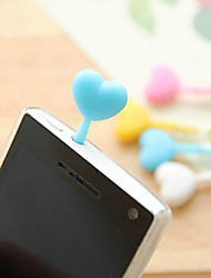 Candy Heart Shaped Silicone Color de la Lucha contra el polvo Plug Negro Tinta Gel Pen (color al azar)