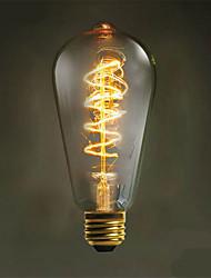 e27 40w 500lm 3000-3500k st64 lámpara de filamento ligero caliente de la base del tungsteno (ac 220-240v)