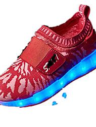 Girl's Loafers & Slip-Ons Spring / Fall Comfort PU Casual Flat Heel Slip-on Black / Blue / Pink / Red Walking