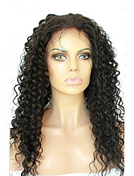 Perucas cheias do cabelo humano do laço para as mulheres pretas peruca encaracolado profunda profunda do laço do cabelo virgem peruano
