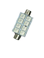 10X RED 41MM 5050 8SMD Festoon Dome Map Interior LED Light bulbs DE3423 6418