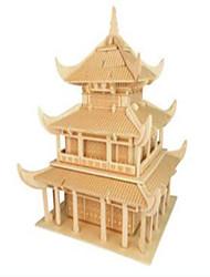 Пазлы Деревянные пазлы Строительные блоки DIY игрушки Знаменитое здание Китайская архитектура 1 Дерево Со стразами Модели и конструкторы