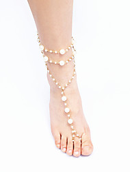 Women'S Golden Resin Anklet Jewelry 1pc