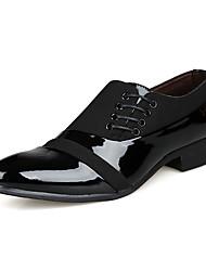 Herren-Loafers & Slip-Ons-Büro-Lackleder-Flacher Absatz-Komfort-Schwarz