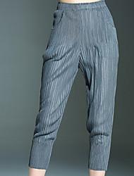 Mujer Pitillo Chinos Pantalones,Un Color Casual/Diario Sencillo Tiro Medio Elasticidad Poliéster Inelástica Otoño