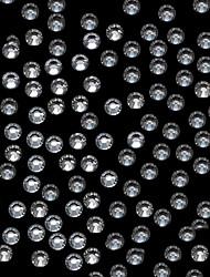 1440pcs 2.7-2.9mm белый блеск Flatback Кристалл Rhinestone Nail Art Decoration