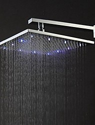 Contemporary Rain Shower Brushed Feature for  LED / Rainfall , Shower Head