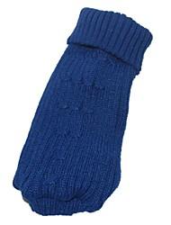 Katzen / Hunde Pullover Blau / Rosa Hundekleidung Winter Geometrisch Modisch