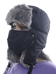 Chapka Hat / Fur Hat Ski Hat / Pollution Protection Mask Women's / Men's / Unisex Thermal / Warm Snowboard Cotton Black ClassicSkiing /