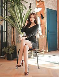 2016 nouveau korean package sexy hip mince était en dentelle fine couture neuf points robe fourreau