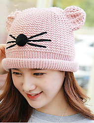 2017 Autumn And Winter New Cat Plus Hand Knitted Hat Warm Jacket Head Cap