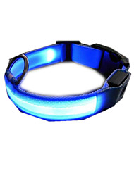 Dog Collar Electronic/Electric Solid Blue Nylon