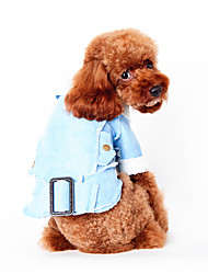 Dog Vest Dog Clothes Winter Spring/Fall British Casual/Daily Brown Blue Bronze Khaki