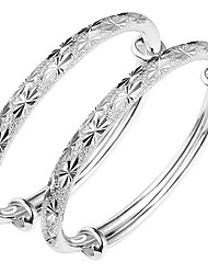 Kid's Bangles Fashion Classic Sterling Silver Flower Jewelry For Birthday Gift