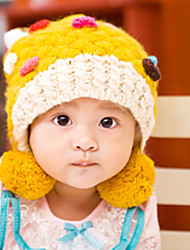 Girl's Knitting Cute Winter Going out/Casual/Daily Keep Warm Solid Color Headgear Baby Hat Children Cap