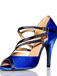 Damen-High Heels-Kleid-Satin-Stöckelabsatz-Andere-Blau