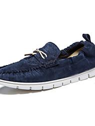 Men's Loafers & Slip-Ons Spring Summer Comfort Pigskin Outdoor Casual Low Heel Ruched Orange Blue Khaki Walking
