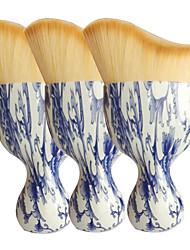 1 Rougebørste Pudderbørste Foundationbørste Konturbørste Syntetisk hår Reise Miljøvennlig Begrenser bakterier Plast Ansikt UBUB