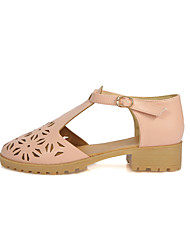 Women's Sandals Spring Summer Fall Other Leatherette Office & Career Party & Evening Dress Casual Low Heel Pink White Beige