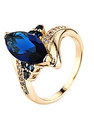 Ring AAA Cubic Zirconia Gemstone Zircon Cubic Zirconia Alloy Blue Jewelry Casual 1pc
