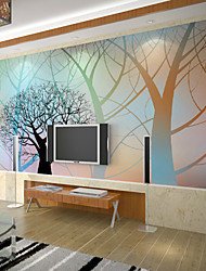 JAMMORY Art Deco Wallpaper For Home Wall Covering Canvas Adhesive Required Mural Colorful Fantasy Tree XL XXL XXXL
