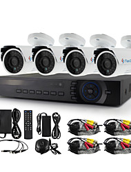 YanSe® 4CH AHD-M 1200TVL CCTV Camera DVR Kit IR Waterproof Security System 720P