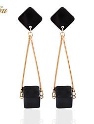 Drop Earrings Hoop Earrings Earrings Set Jewelry Women Party Casual Alloy 1 pair Black
